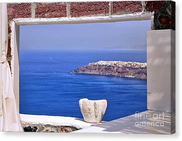 Window View To The Mediterranean Canvas Print