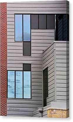Window Wall Geometrics Canvas Print by Kae Cheatham
