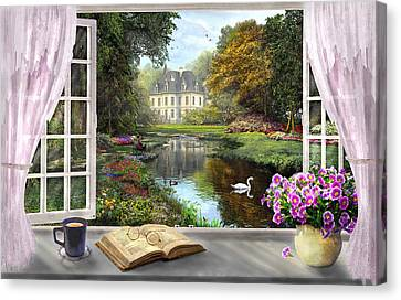 Window Canvas Print - Window With A View by Dominic Davison