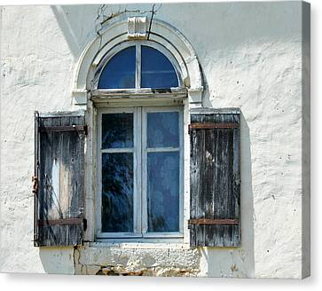 Window With Shutters Canvas Print by Marion McCristall