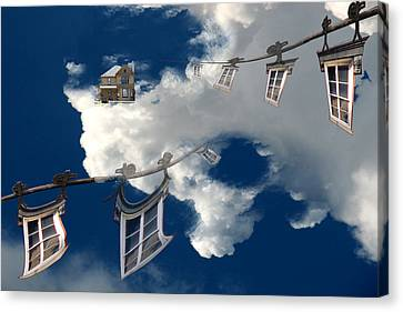 Windows And The Sky Canvas Print by Christopher Woods
