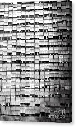 Windows - Black And White Canvas Print by Stefano Senise