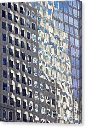 Canvas Print featuring the photograph Windows Of 2 World Financial Center 2 by Sarah Loft