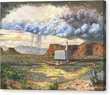 Southern Utah Canvas Print - Windows Of Heaven by Jeff Brimley