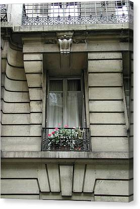 Canvas Print featuring the photograph Windows Of Paris by Nancy Taylor