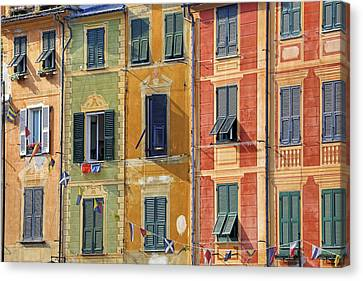 Portofino Italy Canvas Print - Windows Of Portofino by Joana Kruse