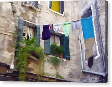 Windows Of Venice Canvas Print by Jeff Kolker