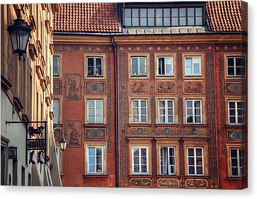 Windows Of Warsaw  Canvas Print