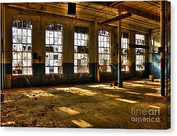 Windows Windows Mary Leila Cotton Mill 1899 Canvas Print by Reid Callaway