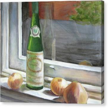 Windowsill Still Life Canvas Print
