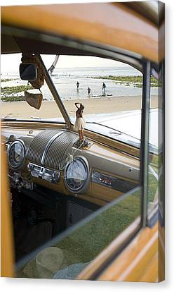 Pch Canvas Print - Windshield View by Ron Regalado