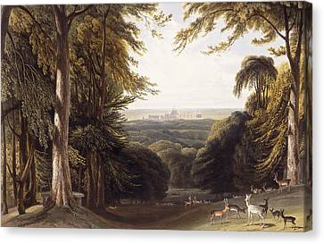 Windsor Castle From The Deer Park Canvas Print by William Daniell