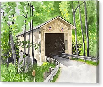 Windsor Mills Bridge Canvas Print