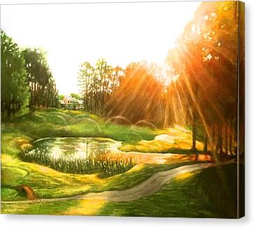 Canvas Print - Windstone 13th Green by Janet McGrath