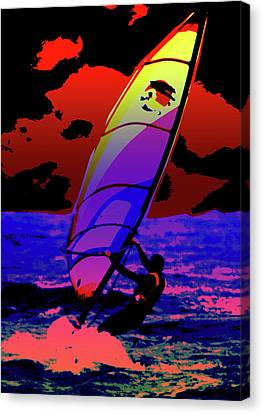 Windsurfer Canvas Print by Brian Roscorla