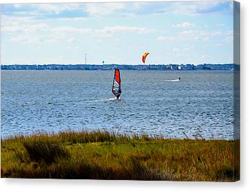 Windsurfing 1 Canvas Print by Lanjee Chee