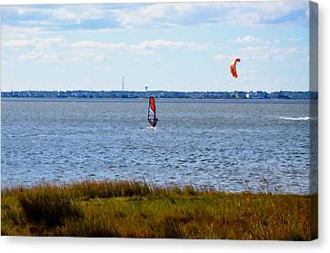 Windsurfing  2 Canvas Print by Lanjee Chee