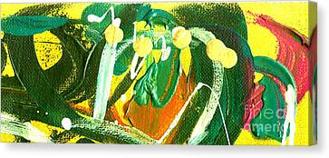 Canvas Print featuring the painting Windswept IIi by Angela L Walker