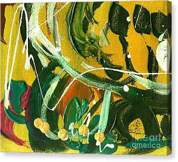 Canvas Print featuring the painting Windswept Iv by Angela L Walker