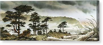 Windswept Shore Canvas Print by James Williamson