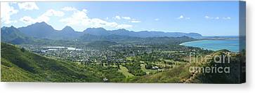 Windward Oahu Panorama I Canvas Print by David Cornwell/First Light Pictures, Inc - Printscapes
