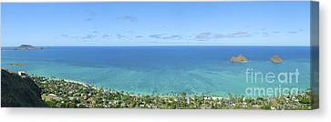 Windward Oahu Panorama II Canvas Print by David Cornwell/First Light Pictures, Inc - Printscapes