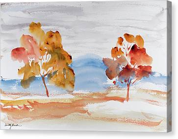 Windy Autumn Colours  Canvas Print by Dorothy Darden