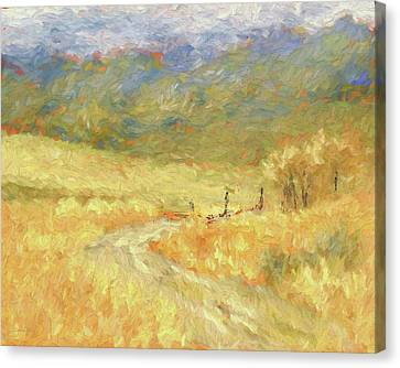 Windy Autumn Dop Canvas Print
