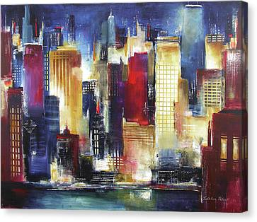 Windy City Nights Canvas Print by Kathleen Patrick