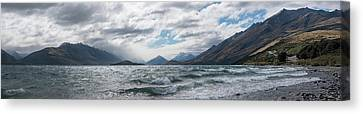 Canvas Print featuring the photograph Windy Day On Lake Wakatipu by Gary Eason