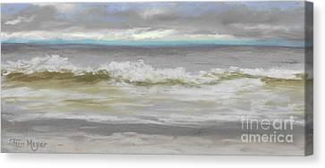 Windy Hill Beach - Myrtle Beach, Sc Canvas Print by Terri  Meyer