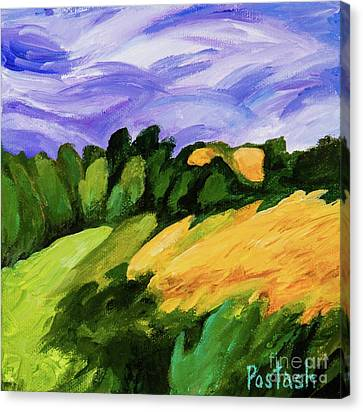 Canvas Print featuring the painting Windy by Igor Postash