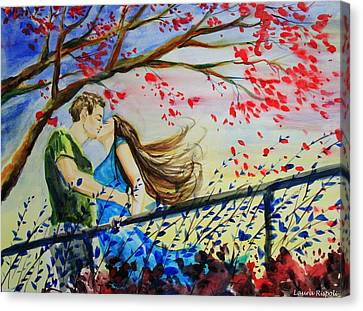 Windy Kiss Canvas Print by Laura Rispoli