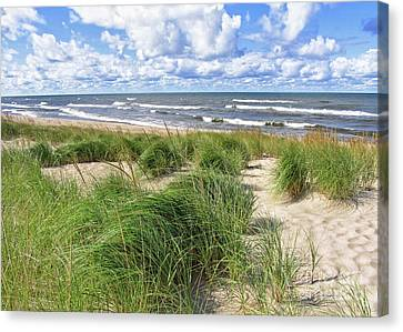 Canvas Print featuring the photograph Windy Shoreline by Kathi Mirto