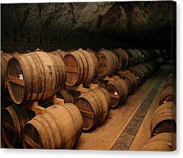 Wine Ageing Cavern Canvas Print by Daniel Hagerman