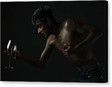 Wine And Blood Canvas Print