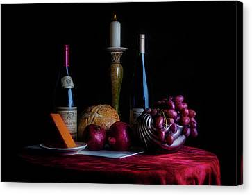 Wine Glasses Canvas Print - Wine And Dine II by Tom Mc Nemar