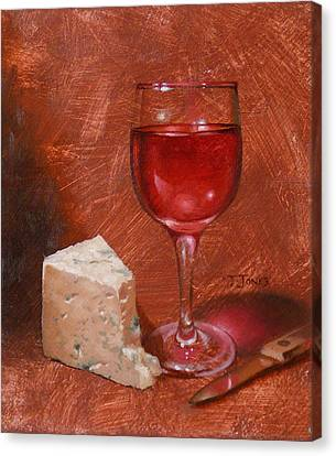 Wine And Stilton Canvas Print by Timothy Jones