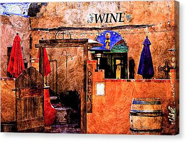 Wine Bar Of The Southwest Canvas Print by Barbara Chichester
