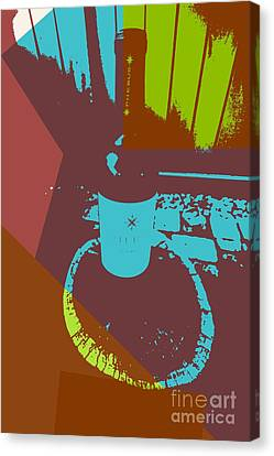 Wine Bottle Phebus Canvas Print by RJ Aguilar
