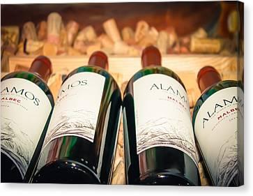 Tasting Canvas Print - Wine Bottles by Colleen Kammerer