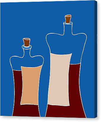 Wine Bottles Canvas Print by Frank Tschakert