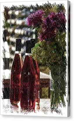 Wine Bottles Pa Vertical Canvas Print by Thomas Woolworth