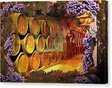 Wine Cellar Canvas Print