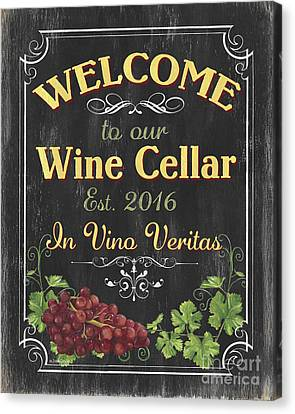 Wine Cellar Sign 1 Canvas Print by Debbie DeWitt