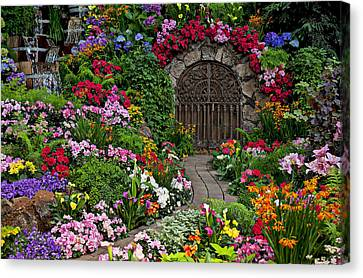 Cellar Canvas Print - Wine Celler Gates  by Garry Gay