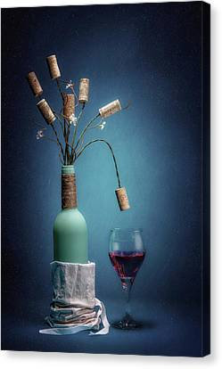 Wine Glasses Canvas Print - Wine Cork Bouquet by Tom Mc Nemar
