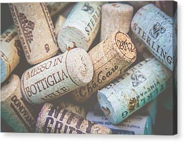 Canvas Print featuring the photograph Wine Corks by April Reppucci