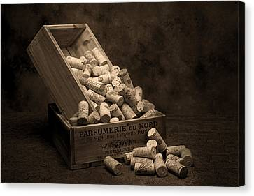 Wine Corks Still Life I Canvas Print by Tom Mc Nemar