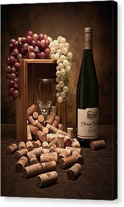 Grape Canvas Print - Wine Corks Still Life II by Tom Mc Nemar